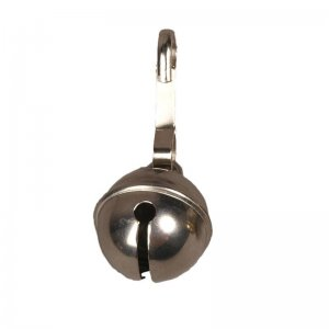 Closed bell with snap hook, stainless steel
