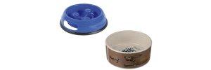 Plastic and ceramic bowls