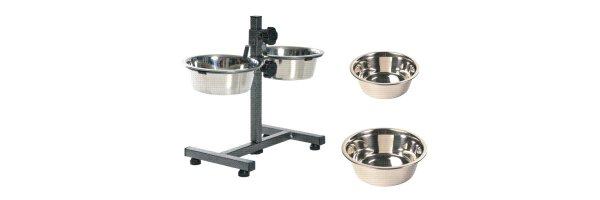 Stainless steel bowls & Dogs Bar