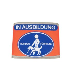 "harness recognition cover ""Blindenführhund - In Ausbildung"""