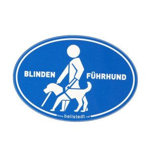 "Sticker ""Blindenführhund"""